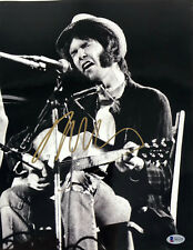 Neil Young Signed Autographed 11x14 Concert Photo Beckett BAS COA #B41420