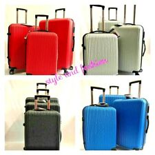 Hard Shell 4-Wheels trolleys ABS Hand Luggage Suitcases ULTRA LIGHT WEIGHT