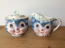 Lefton Miss Priss Sugar and Creamer