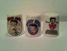 Birchcroft Porcelain China Collectable Thimble Betty Boop Merry Christmas Box