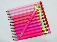 """24 """"Shades of Pink #2""""  Personalized Golf Pencils with Erasers"""