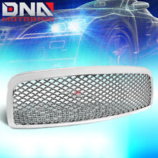 FOR 09-12 DODGE RAM 1500 CHROME SPORT MESH FRONT HOOD BUMPER GRILL/GRILLE GUARD