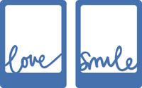 KAISERCRAFT DECORATIVE DIE - LOVE & SMILE DD514 SCRAPBOOKING & CARD MAKING NEW