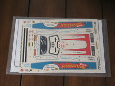 1/24 Vintage NHRA Waterslide Decals Revell Hawaiian Dodge Charger Scale Master