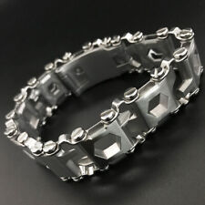 SAN MARTIN new stainless steel watch band Multi-tool bracelet 22mm creative EDC