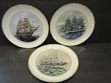 The Official Tall Ships Fine China 3 Plates~Nippon Maru-Danmark-Amerigo Vespucci