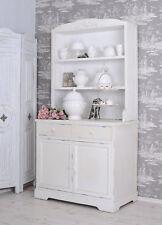 Armoire de cuisine blanc placard shabby chic étagère deux portes et tiroirs bois