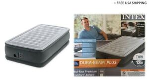 Intex Elevated Air Mattress Twin Pump Included Model: 64411EP