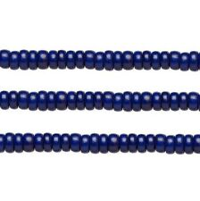 Wood Rondelle Beads Navy Blue 8x4mm 16 Inch Strand