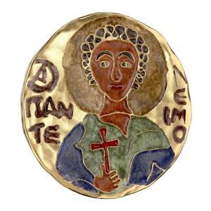 Niue 2014 2 $ Orthodox Shrines St Panteleimon 1Oz Silve Gilded Coin