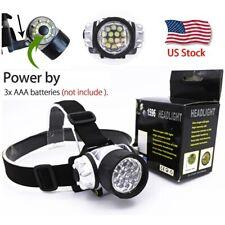 Super Bright 14 LED Headlamp Flashlight Torch Light 4 Modes Adjustable Headband