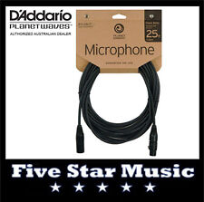 D'ADDARIO PLANET WAVES CLASSIC MIC CABLE 25' PW-MIC-25 MICROPHONE LEAD NEW