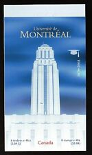 BOOKLET: UNIVERSITE DE MONTREAL, BK273b, UC#1977, 2003, 48c, 8 STAMPS