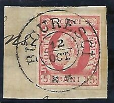 Romania: 1871; Scott 43, Used in paper + used, tones, good pieces XF, EBRU030