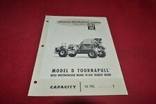 Letourneau Westinghouse Model D Tournpull Cement Mixer Dealer's Brochure YABE18