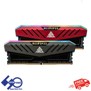Neo Forza Mars 16G (8GBx2) DDR4 3600 Desktop RGB RAM Gaming PC Memory (Gray)