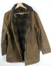 Women's Barbour Wax Newmarket Brown Jacket UK 14 Original : J840