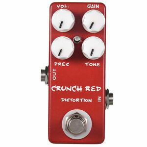 MOSKY Crunch Red Distortion Overdrive Guitar Bass Effect Pedal True Bypass