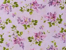 Stoffe Flieder Blätter Blüten Zweige Fliedersträuße lila creme lavendel 30x1,12