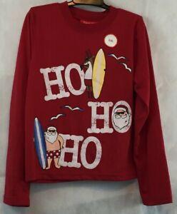 Family Pajamas Boys' or Girls' Pajama Top, Red Santa Ho Ho Ho, 8