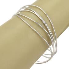 Tifany & Co. Peretti 18k White Gold 5 Rows Wire Wave Bangle Bracelet