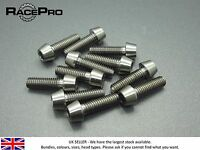 RacePro - 6x Titanium Tapered Bolt GR5 - M6 x 20mm x 1mm - Natural Allen Head