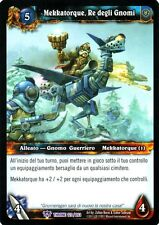 WOW Mekkatorque, Re degli Gnomi THRONE 123/263 ITA NEAR MINT WORLD OF WARCRAFT