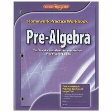 Pre-Algebra Homework Practice Workbook (Paperback or Softback)