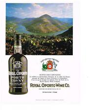 PUBLICITE ADVERTISING 1991   ROYAL OPORTO WINE CO    quinta das CARVALHAS  porto