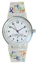 Nurse-Medical Cancer Awareness Cure All Ribbon Jelly Watch