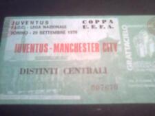 BIGLIETTI STADIO ANNI '70/'80 - JUVENTUS - MAN. CITY