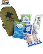 COYOTE SMALL POCKET FIRST AID KIT POUCH - Tactical Camping Survival Hiking Army