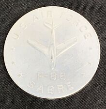Vintage US Air Force North American F-86 Sabre Jet Aluminum Coin