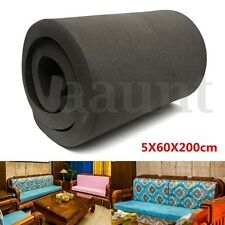 """Black High Density Seat Firm Upholstery Foam Rubber Replacement 78.7''x23.6''x2"""""""