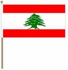 "Lebanon (12"" x 18"") Large Hand Waving Flag"