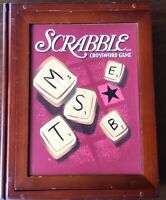 SCRABBLE Wooden Box Book Shelf Edition. 2005 by Parker Brothers. Complete.