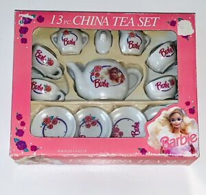 Barbie Mattel - 13 Piece China Tea Set - 1992 - By Chilton Toys