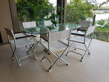 6 X Deck Chairs Directors Chair Lightweight compact  Double leg Strong Design
