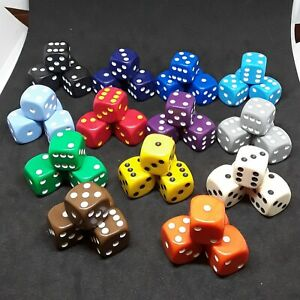 16mm D6 spot dice various colours and quantities RPG/War gamming