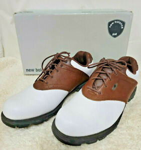 New Balance MG1275BR Men's Golf Shoes Size 10 2E Wide Brown White