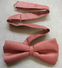 TOP QUALITY MENS DICKIE BOW TIE TEXTURED CORAL SALMON PINK ONE SIZE BOWTIE NEW