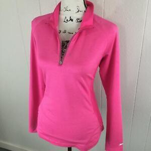 SLAZENGER 1/4 Zip Mock Neck Pink Activewear Golf Jacket Women's Size Large