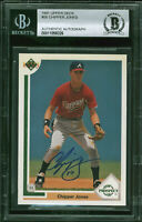 Braves Chipper Jones Authentic Signed 1991 Upper Deck #55 RC Card BAS Slabbed