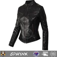 Pashmeer Sphnyx Women's Ladies Girls Super Soft Waxy Black Biker Style Jacket