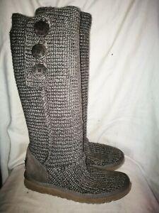 Ugg Australia grey cardy boots size 7.5