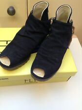 Fly London Yema Oil Suede Navy UK 4/ EU 37