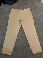 M&S Almond Stretch Chino Trousers Size 14 BNWT  Free Same day Postage