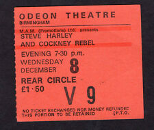 1976 Cockney Rebel Steve Harley concert ticket stub Odeon Birmingham UK