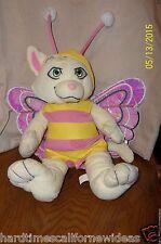 "2010 Animaland Pink Yellow Cat Kitten Butterfly Costume 15"" Plush Green Eyes"