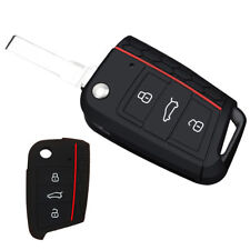 Silicone Car Key Case Remote Bag Holder Cover Shell For Volkswagen VW Golf 7 MK7